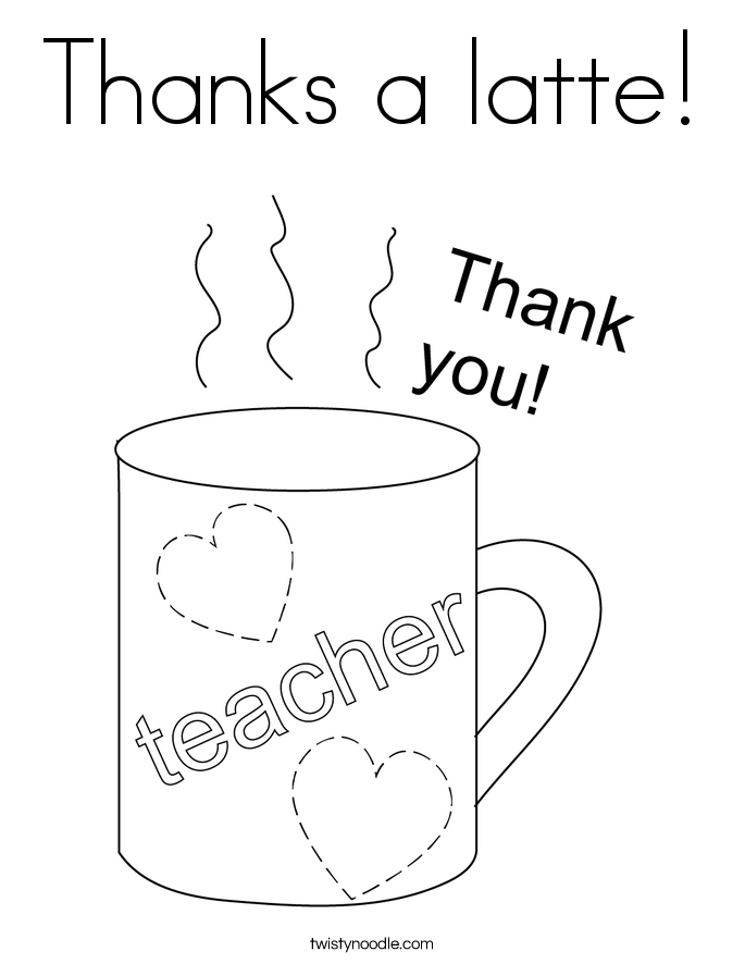 Thanks a latte! Coloring Page