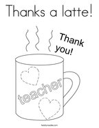 Thanks a latte Coloring Page