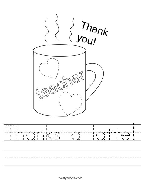 Thanks a latte! Worksheet