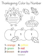 Thanksgiving Color by Number Coloring Page