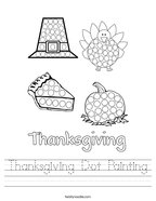 Thanksgiving Dot Painting Handwriting Sheet