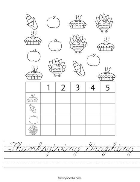 Thanksgiving Graphing Worksheet