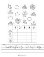 Thanksgiving Graphing Handwriting Sheet