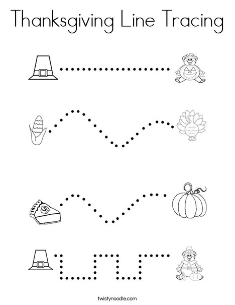 Thanksgiving line tracing Coloring Page