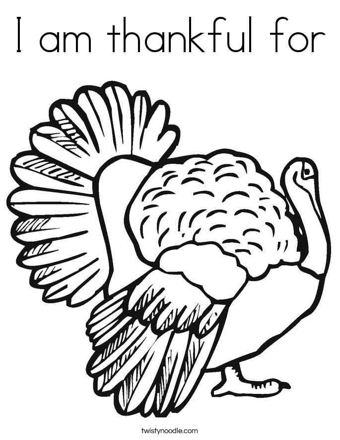 i am thankful coloring pages - photo #48