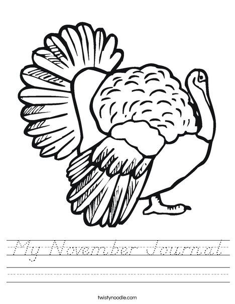 Thanksgiving Turkey Worksheet