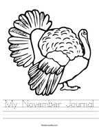 My November Journal Handwriting Sheet