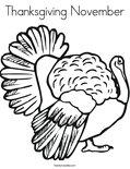 Thanksgiving NovemberColoring Page