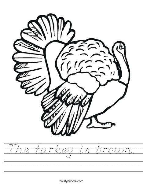 Thanksgiving Turkey Worksheet