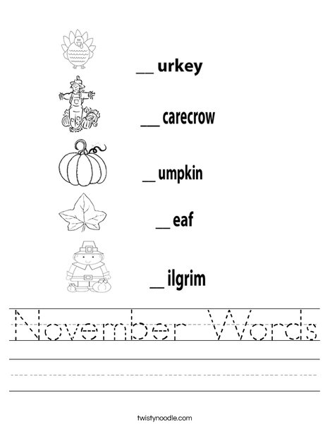 Thanksgiving Worksheet Worksheet