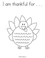 I am thankful for    Coloring Page