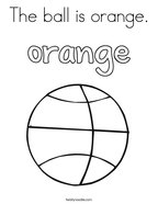 The ball is orange Coloring Page