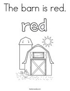 The barn is red Coloring Page