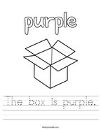 The box is purple Handwriting Sheet