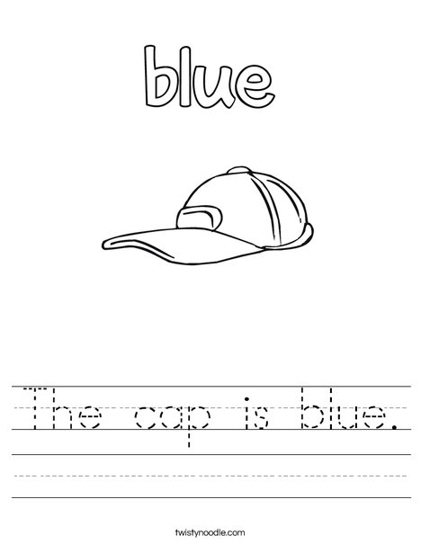 The cap is blue. Worksheet