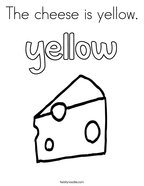 The cheese is yellow Coloring Page