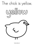 The chick is yellow Coloring Page