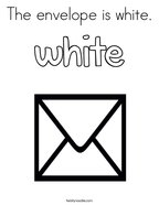 The envelope is white Coloring Page