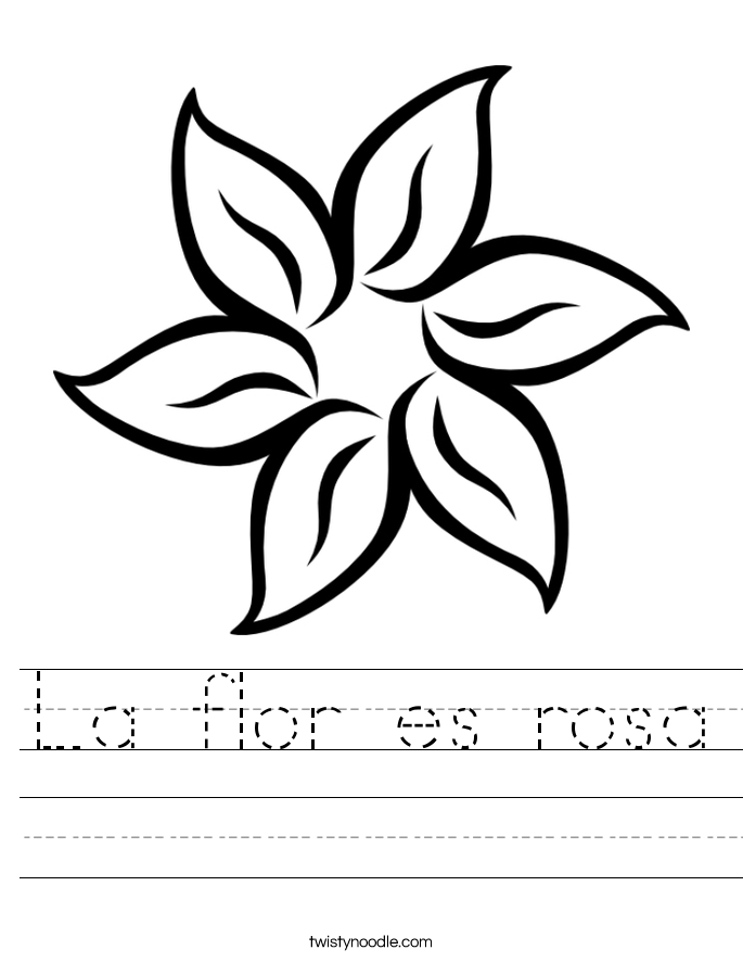 La flor es rosa Worksheet