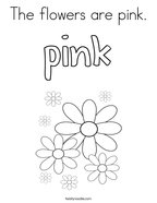 The flowers are pink Coloring Page
