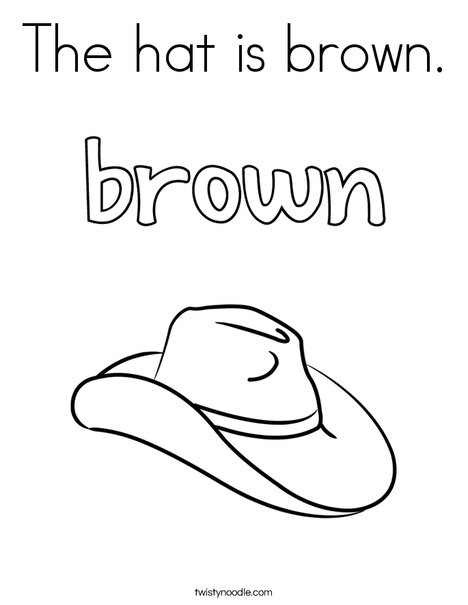 The Hat Is Brown Coloring Page