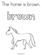 The horse is brown Coloring Page