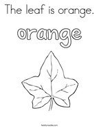 The leaf is orange Coloring Page