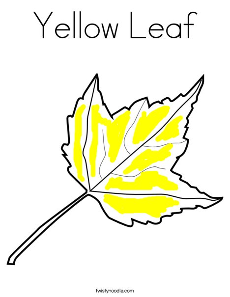 The Leaf is Yellow Coloring Page