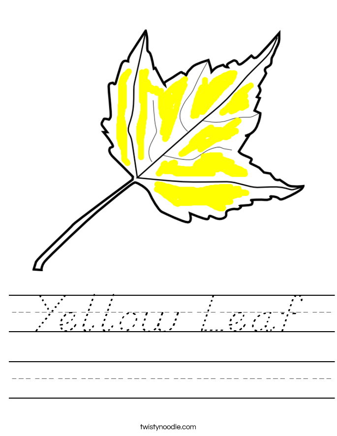 Yellow Leaf Worksheet