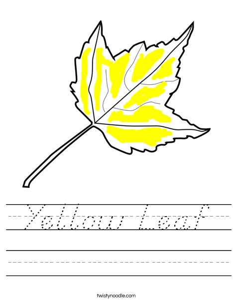 The Leaf is Yellow Worksheet