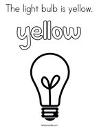 The light bulb is yellow Coloring Page