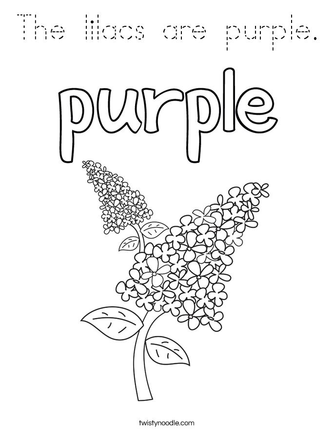 purple plant coloring pages - photo#38