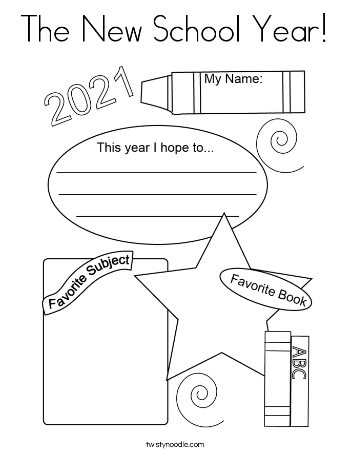 The New School Year! Coloring Page