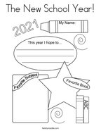 The New School Year Coloring Page