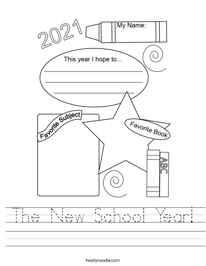 The New School Year! Worksheet