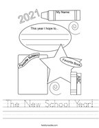 The New School Year Handwriting Sheet