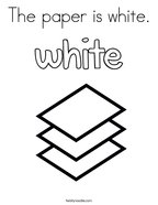 The paper is white Coloring Page