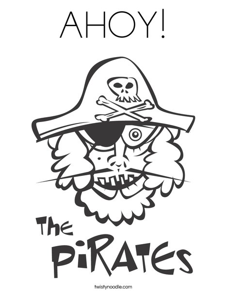 The Pirates Coloring Page