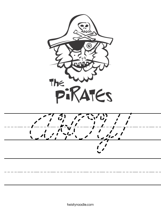 AHOY! Worksheet