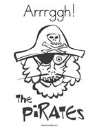 Arrrggh Coloring Page