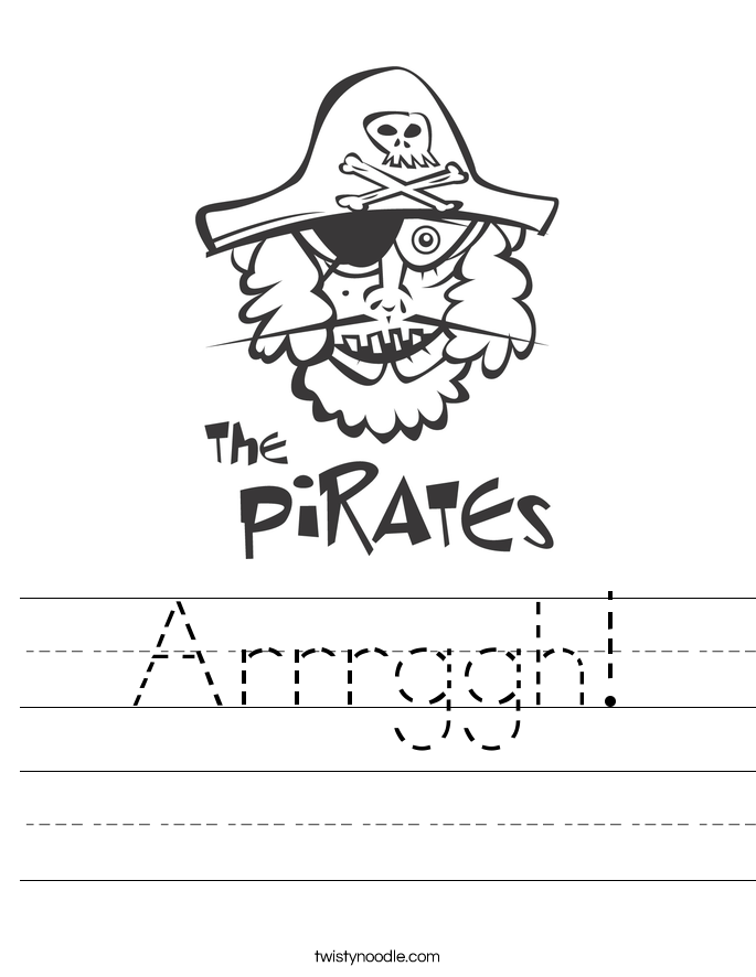 Arrrggh! Worksheet