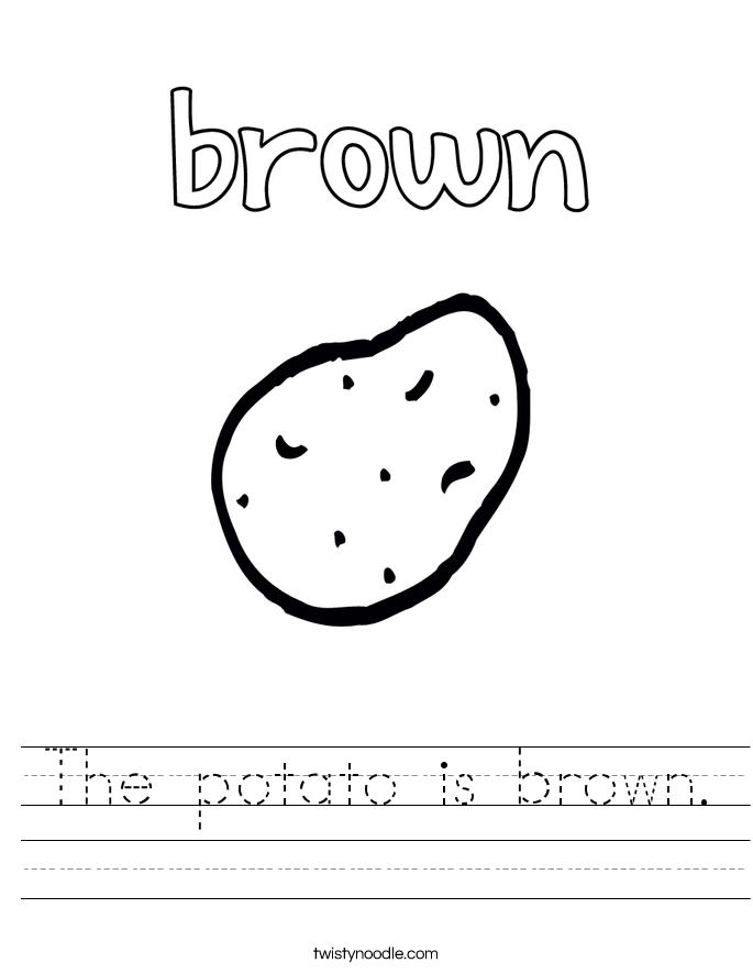 The Color Brown | Worksheet | Education.com