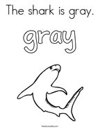 The shark is gray Coloring Page