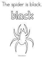 The spider is black Coloring Page