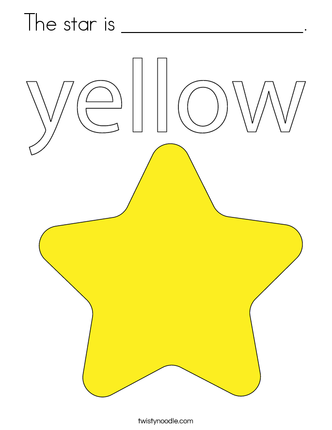The star is _________________. Coloring Page