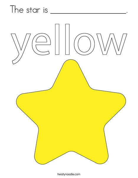 The star is yellow. Coloring Page