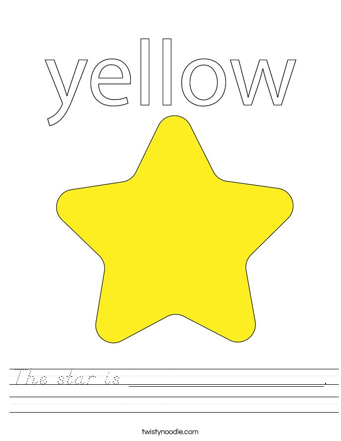 The star is _________________ Worksheet - D'Nealian ...