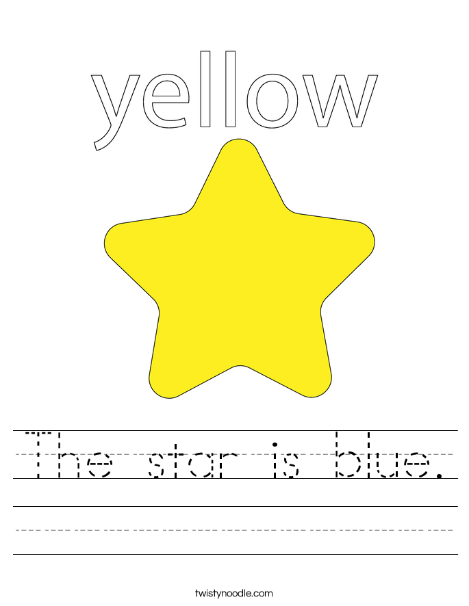 The star is blue. Worksheet