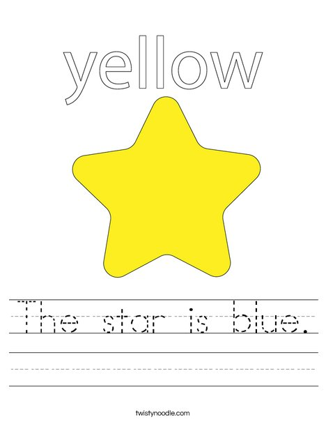 The star is yellow. Worksheet