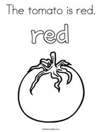 The tomato is red Coloring Page